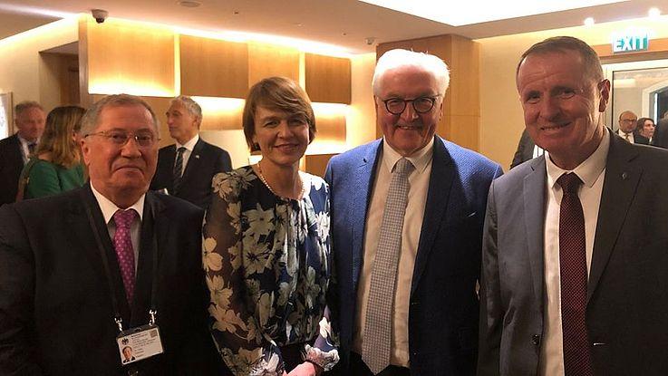 Der deutsche Bundespräsident kam zu einem offiziellen Besuch nach Usbekistan