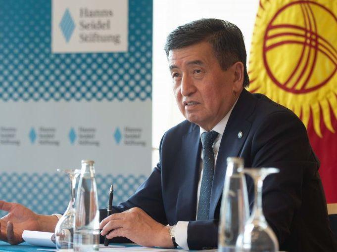 Der Präsident der Kirgisischen Republik, Sooronbai Jeenbekov