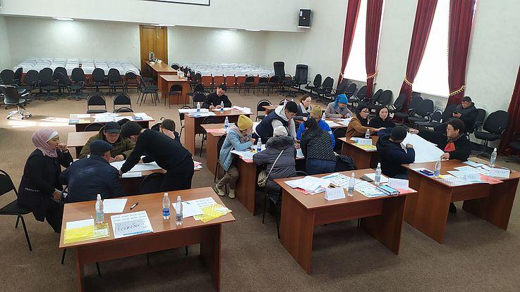 Mikrotraining für Unternehmer des kirgisischen Bezirks Ton
