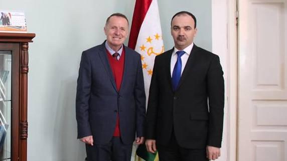 Besuch vom Projektleiter Zentralasien der HSS in Duschanbe